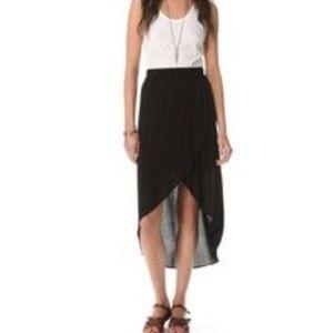 Splendid high low skirt (black)